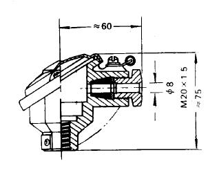 装配式热电偶接线盒结构类型及尺寸