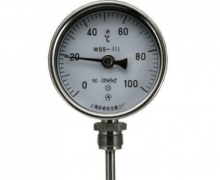 WSS-411可动外螺纹径向双金属温度计
