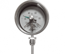 WSSX-411可动外螺纹径向电接点双金属温度计