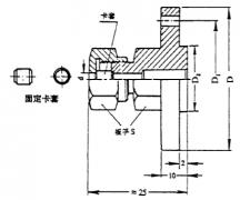 化工用热电偶、热电阻卡套法兰图片尺寸及执行标准