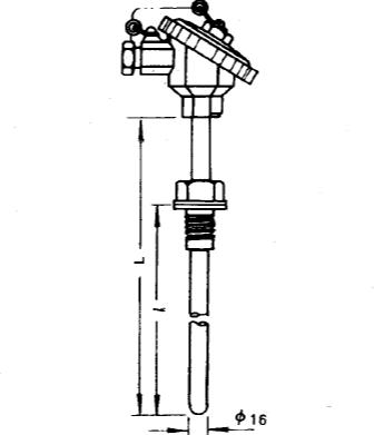 WRN-230固定螺纹装配式热电偶安装图片