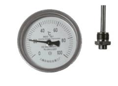 WSS-451可动外螺纹轴向抽芯式双金属温度计