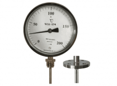 WSS-574固定法兰万向抽芯式双金属温度计