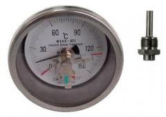 WSSX-451可动外螺纹轴向抽芯式电接点双金属温度计